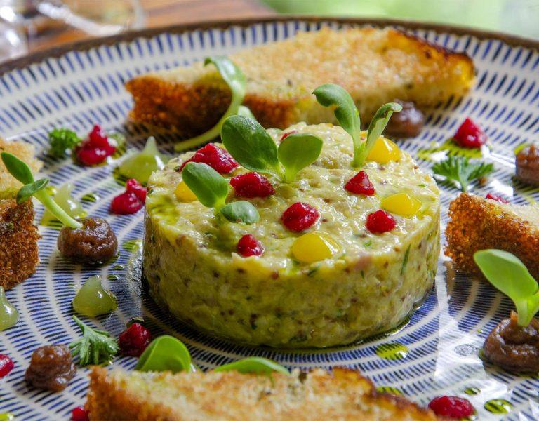 prato Tartar de truta do Zucchine Ristorante