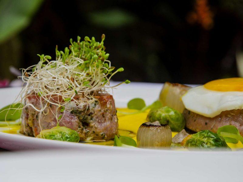 Duroc é um prato do Zucchine Ristorante
